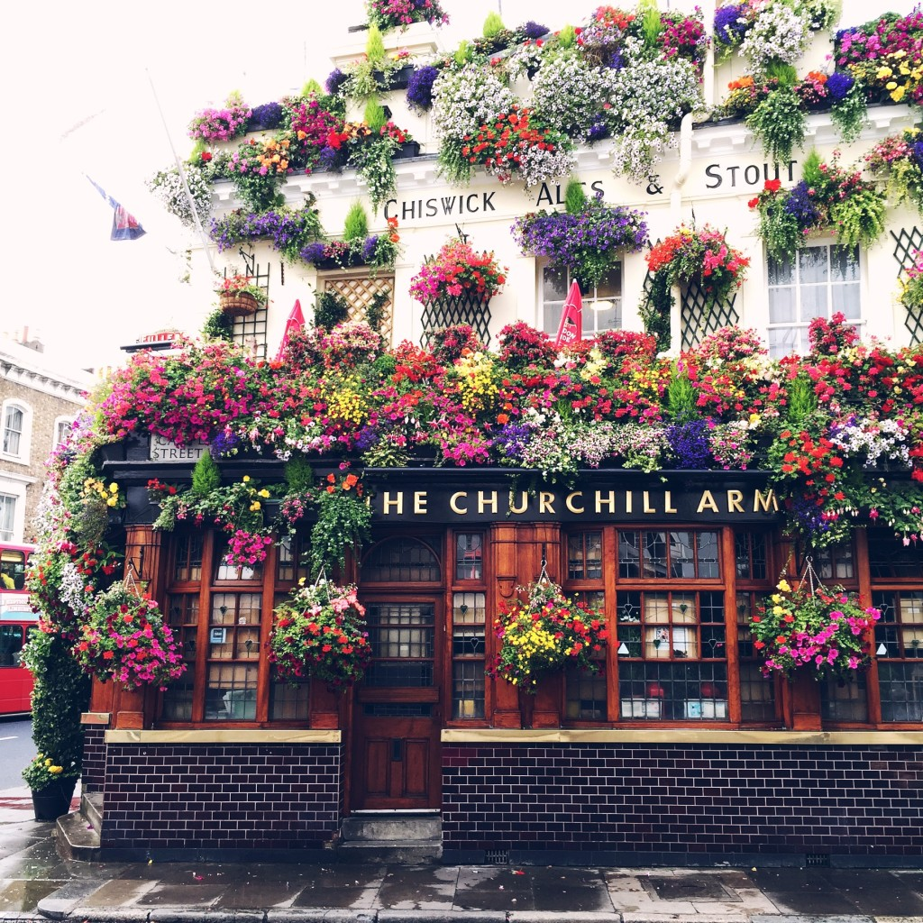 The Churchill Arms in London, England